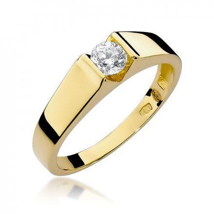 Biżuteria SAXO 14K Pierścionek z brylantem 0,30ct W-33 Złoty