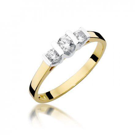 Biżuteria SAXO 14K Pierścionek z brylantami 0,31ct W-338 Złoty