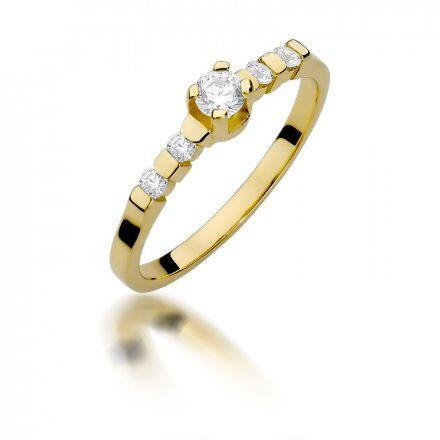 Biżuteria SAXO 14K Pierścionek z brylantami 0,35ct W-384 Złoty