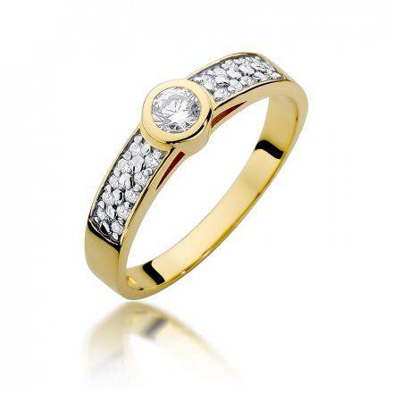 Biżuteria SAXO 14K Pierścionek z brylantami 0,35ct W-389 Złoty