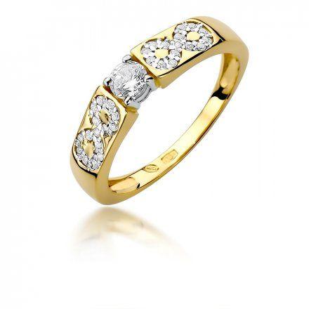 Biżuteria SAXO 14K Pierścionek z brylantami 0,35ct W-431 Złoty