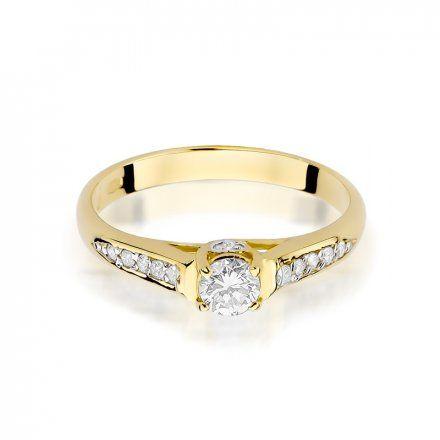 Biżuteria SAXO 14K Pierścionek z brylantami 0,33ct W-16 Złoty