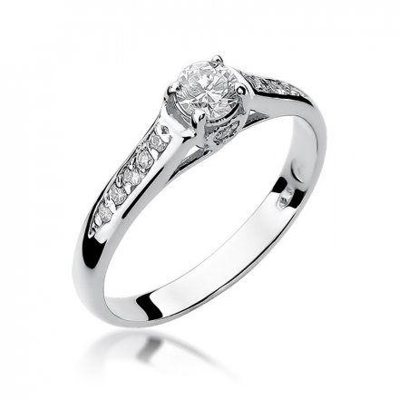 Biżuteria SAXO 14K Pierścionek z brylantami 0,33ct W-16 Białe Złoto