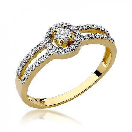 Biżuteria SAXO 14K Pierścionek z brylantami 0,31ct W-272 Złoty