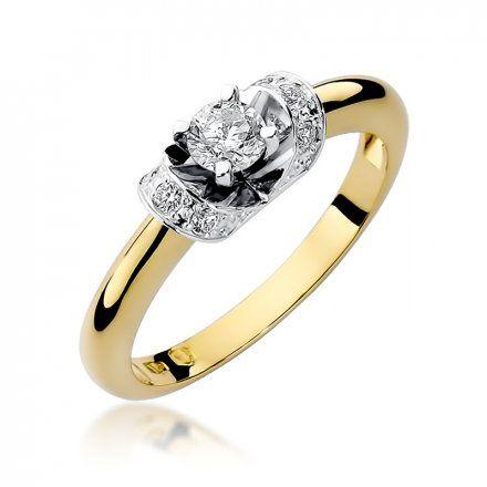 Biżuteria SAXO 14K Pierścionek z brylantami 0,33ct W-43 Złoty