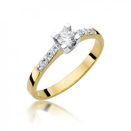 Biżuteria SAXO 14K Pierścionek z brylantami 0,37ct W-339 Złoty