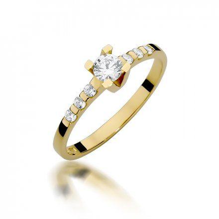 Biżuteria SAXO 14K Pierścionek z brylantami 0,37ct W-368 Złoty