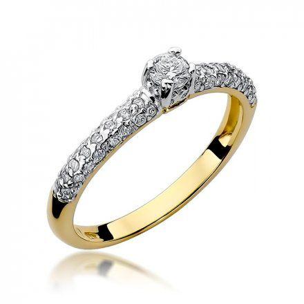 Biżuteria SAXO 14K Pierścionek z brylantami 0,36ct W-200 Złoty