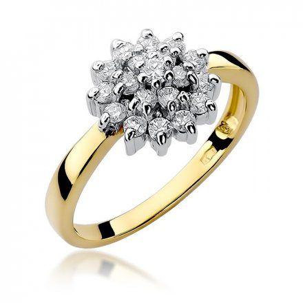 Biżuteria SAXO 14K Pierścionek z brylantami 0,40ct W-4 Złoty
