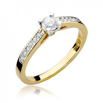 Biżuteria SAXO 14K Pierścionek z brylantami 0,36ct W-52 Złoty