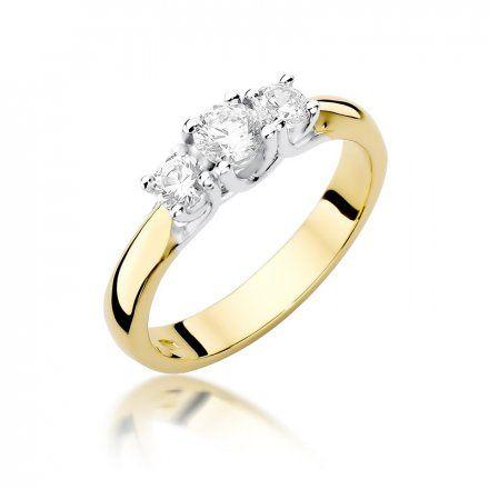 Biżuteria SAXO 14K Pierścionek z brylantami 0,49ct W-344 Złoty