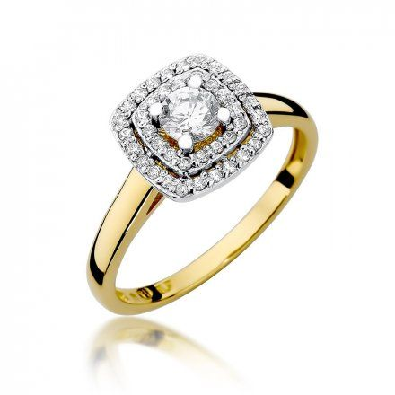 Biżuteria SAXO 14K Pierścionek z brylantami 0,50ct W-345 Złoty