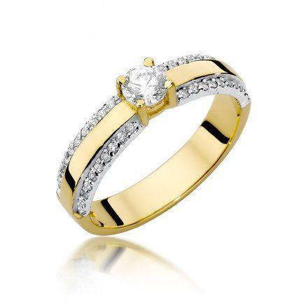 Biżuteria SAXO 14K Pierścionek z brylantami 0,45ct W-356 Złoty