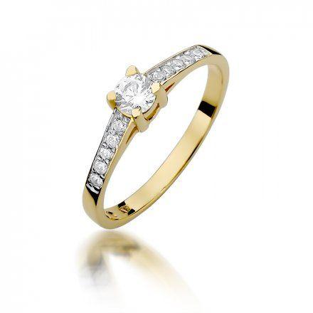 Biżuteria SAXO 14K Pierścionek z brylantami 0,44ct W-364 Złoty