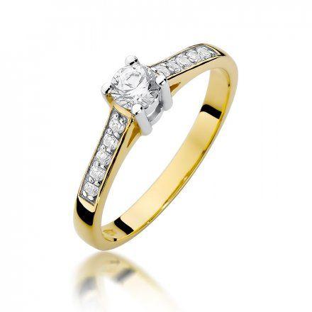 Biżuteria SAXO 14K Pierścionek z brylantami 0,42ct W-398 Złoty