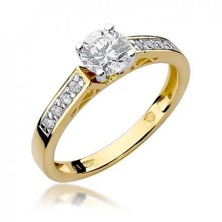 Biżuteria SAXO 14K Pierścionek z brylantami 0,42ct W-198 Złoty