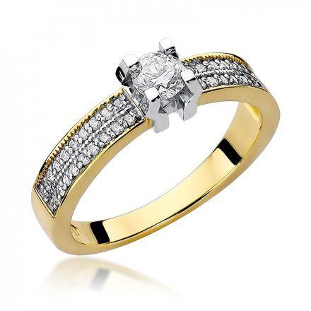 Biżuteria SAXO 14K Pierścionek z brylantami 0,48ct W-59 Złoty