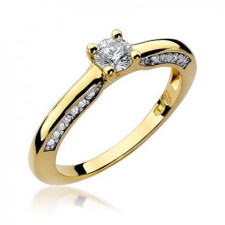 Biżuteria SAXO 14K Pierścionek z brylantami 0,44ct W-9 Złoty
