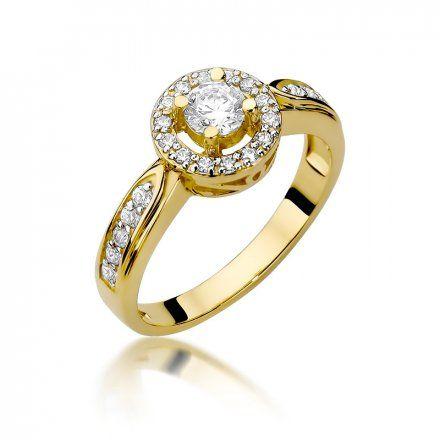 Biżuteria SAXO 14K Pierścionek z brylantami 0,51ct W-363 Złoty