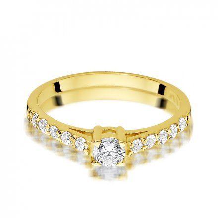 Biżuteria SAXO 14K Pierścionek z brylantami 0,60ct W-409 Złoty