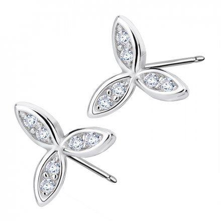 Biżuteria damska INFINITY DHKM0047 Kolczyki srebrne