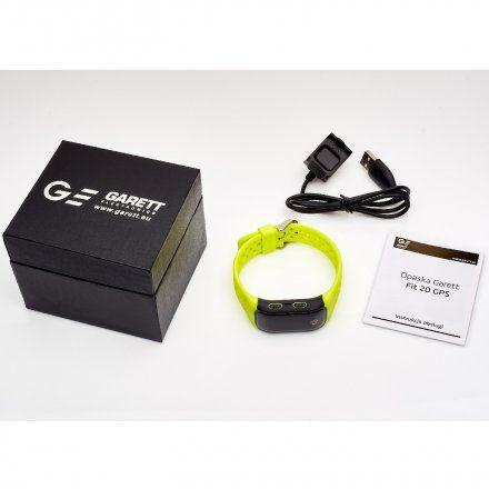 Opaska Sportowa, Smartband Garett Fit20 Gps Zielona