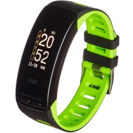 Opaska Sportowa, Smartband Garett Fit23 Gps Czarno-Zielona
