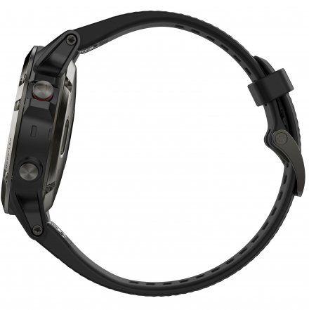 Zegarek Garmin Fenix 5 010-01688-00 Stalowoszary z czarnym paskiem