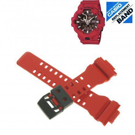 Pasek 10536684 Do Zegarka Casio Model GA-700 czerwony