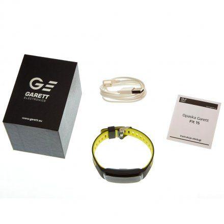 Opaska Sportowa, Smartband Garett Fit15 Zielona