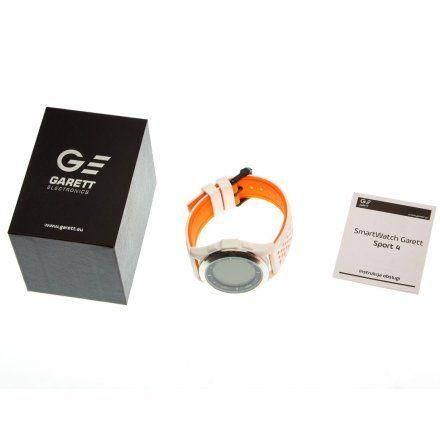 Smartwatch Garett Sport4 Biało-Pomarańczowy