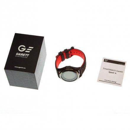 Smartwatch Garett Sport4 Czarno-Czerwony