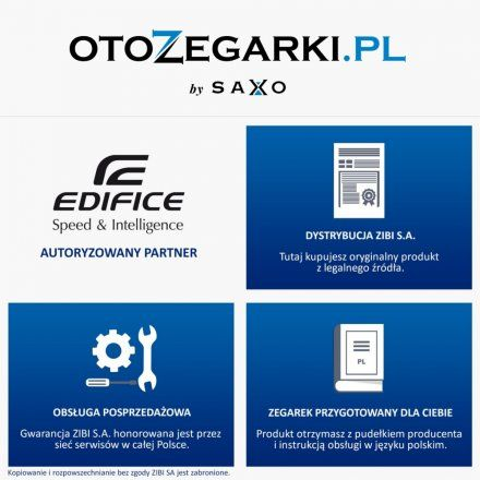 Zegarek Męski Casio EFV-C100L-1AVEF Edifice EFV C100L 1AV
