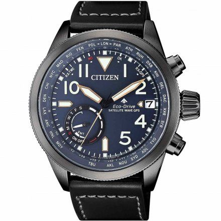 Citizen CC3067-11L Zegarek Męski na pasku Eco Drive Promaster GPS