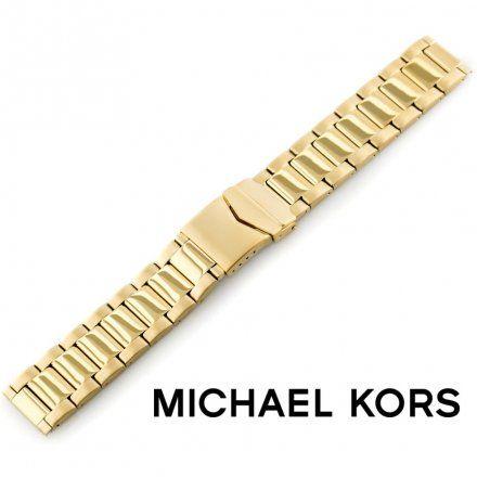 Pasek MICHAEL KORS - Oryginalna bransoleta stalowa powlekana do zegarka MICHAEL KORS