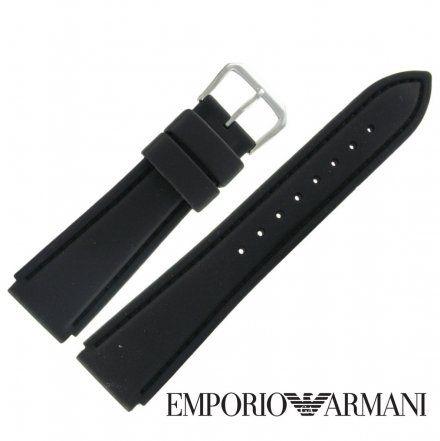 Pasek Emporio Armani - Oryginalny Pasek Z Tworzywa Do Zegarka Emporio Armani