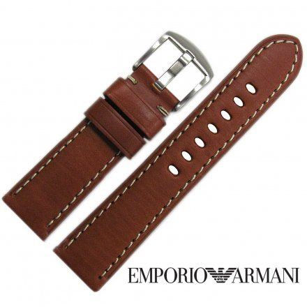 Pasek Emporio Armani - Oryginalny Pasek Ze Skóry Do Zegarka Emporio Armani