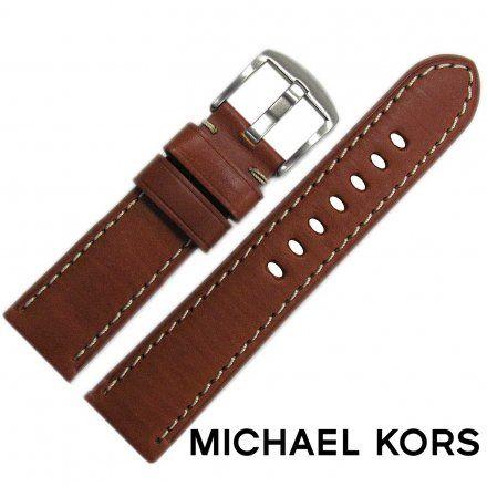 Pasek MICHAEL KORS - Oryginalny pasek ze skóry do zegarka Michael Kors