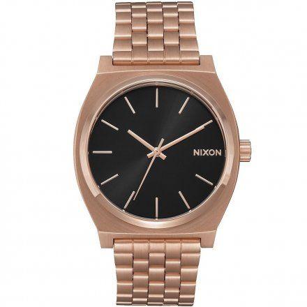 Zegarek Nixon Time Teller Rose Gold / Black - Nixon A0452598