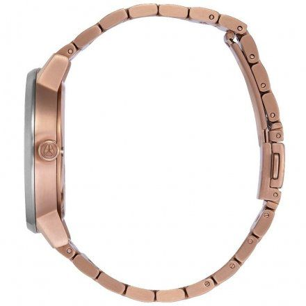 Zegarek Nixon Kensington Rose Gold Black Sunray - Nixon A0992361
