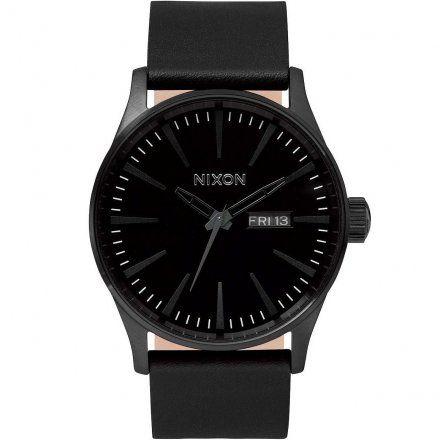 Zegarek Nixon Sentry Leather All Black - Nixon A1051001