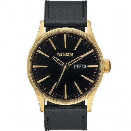 Zegarek Nixon Sentry Leather Gold Black - Nixon A1051513