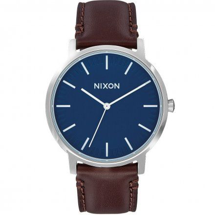 Zegarek Nixon Porter Leather Navy / Brown - Nixon A10581879