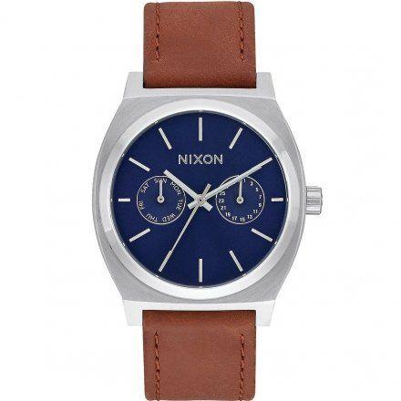Zegarek Nixon Time Teller Deluxe Navy Sunray/Brown Nixon A9272307