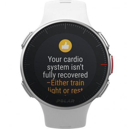 Polar VANTAGE V Biały zegarek z pulsometrem i GPS