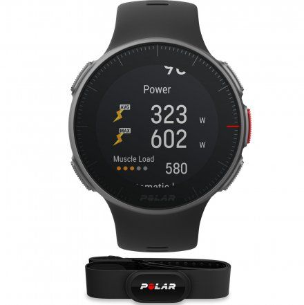 Polar VANTAGE V Czarny zegarek z pulsometrem i GPS + Pas H10