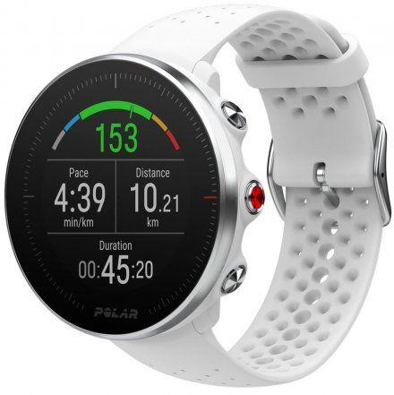 Polar VANTAGE M Biały zegarek z pulsometrem i GPS