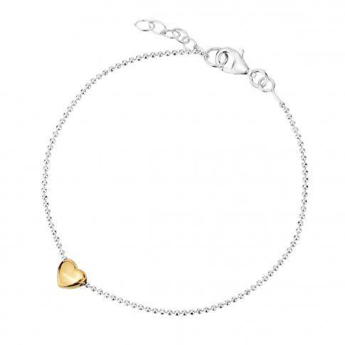 9240ee2555 Biżuteria damska INFINITY TFBZ0001 Bransoletka srebrna pozłacana ...
