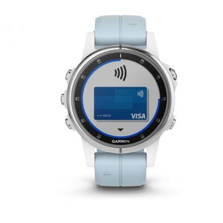 GARMIN Zegarek Fenix 5S Plus Biały z piankowym paskiem 010-01987-23