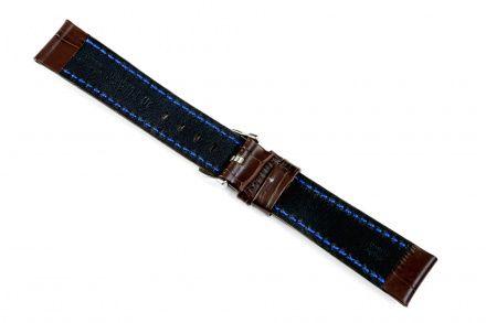 Brązowy pasek skórzany 18 mm HIRSCH Grand Duke 02528010-2-18 (L)